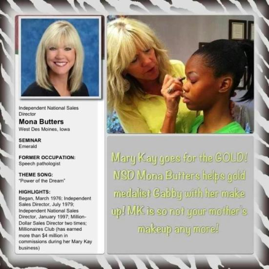 US Olympic Gold Medalist Uses Mary Kay Cosmetics!